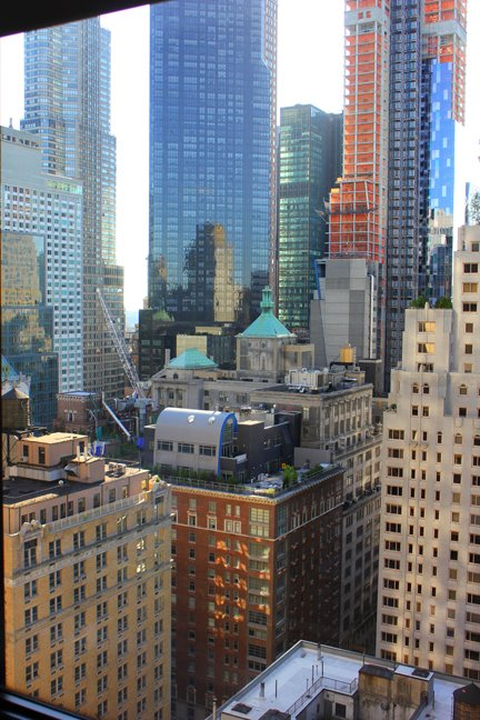 And last, but not least, the view from our room at the Helmsley Park Lane Hotel in Midtown Manhattan. STUNNING!