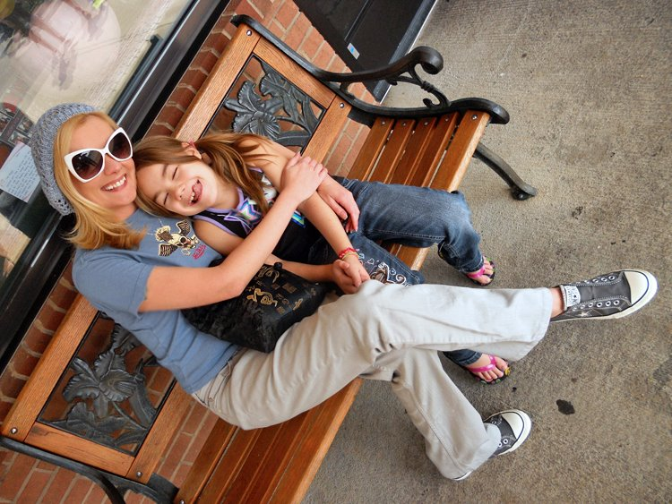 A laid back, casual play day with the Mini Maven, but at least the shades are cool!