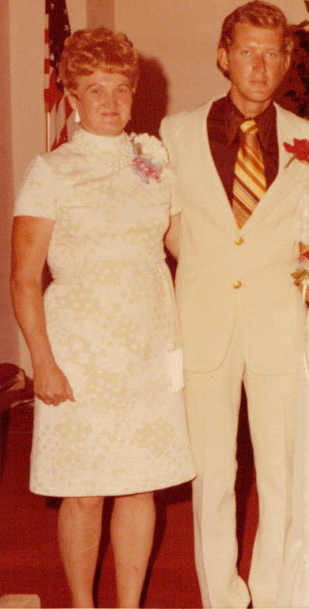 My father (and grandma) on his wedding day to my mother.