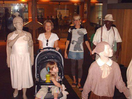 Taking my mother & Mini Maven to The King Center in 2004.