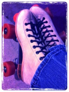 My rental skates the last time we went skating. I think we should be permitted to skate anywhere, anytime. Feet have been missing wheels since the dawn of time!