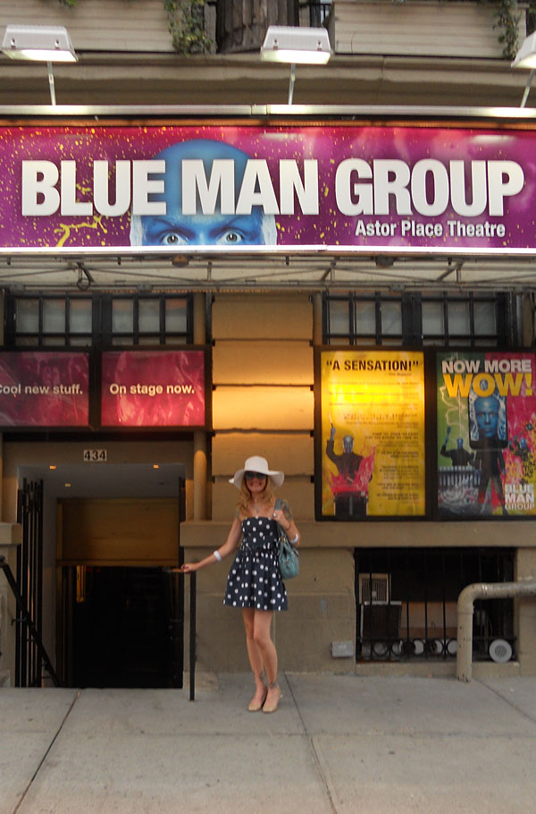 Seeing the Blue Man Group for *my* first time at the Astor Place Theatre in New York. If I could, I would start a Blue Girl Group! These guys are living the dream job like whoa.