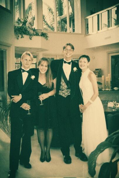 Prom 1993 with Ian, Aim, & Joel
