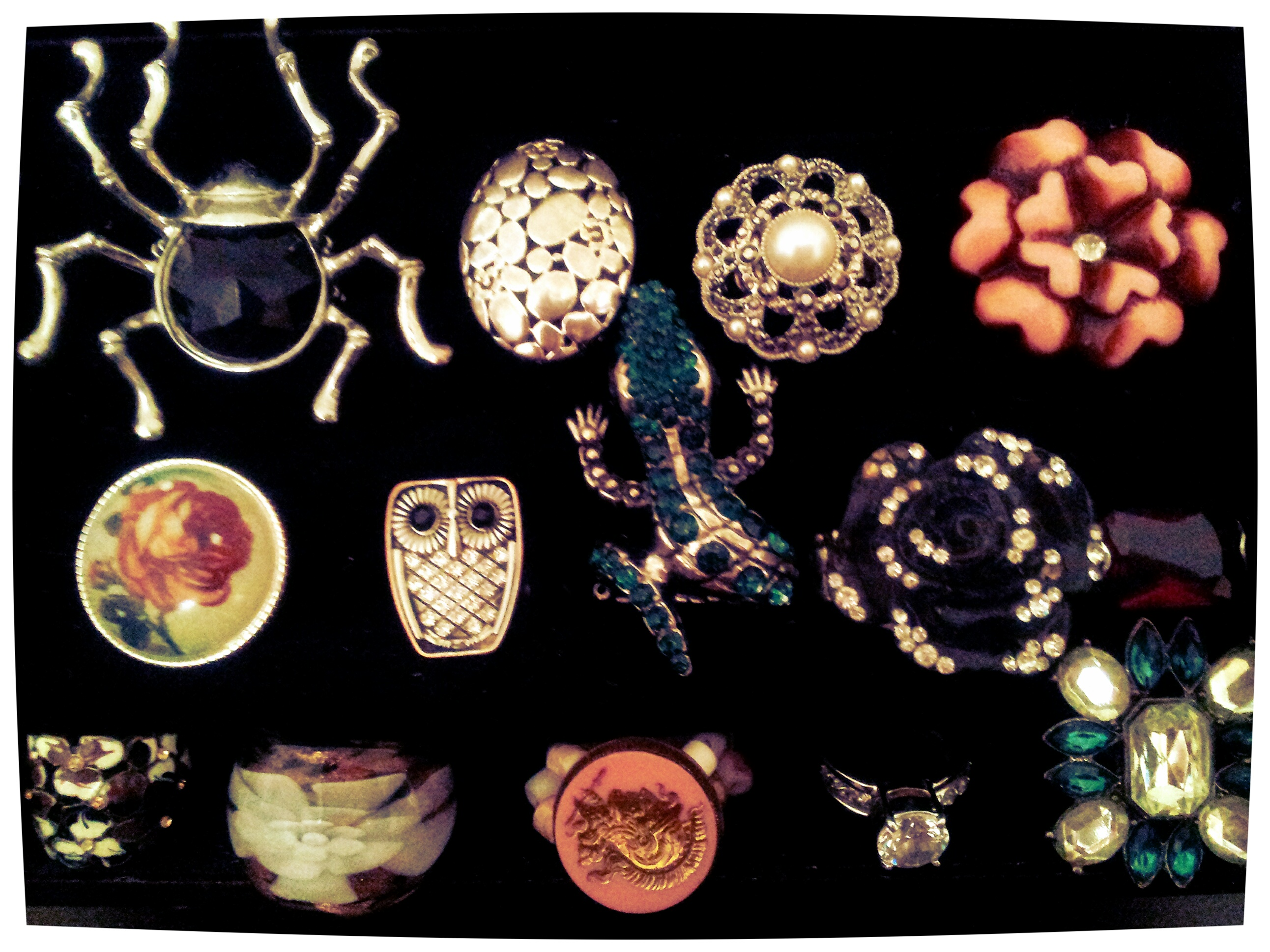 Just *some* of my funky, chunky, jumbo bling...