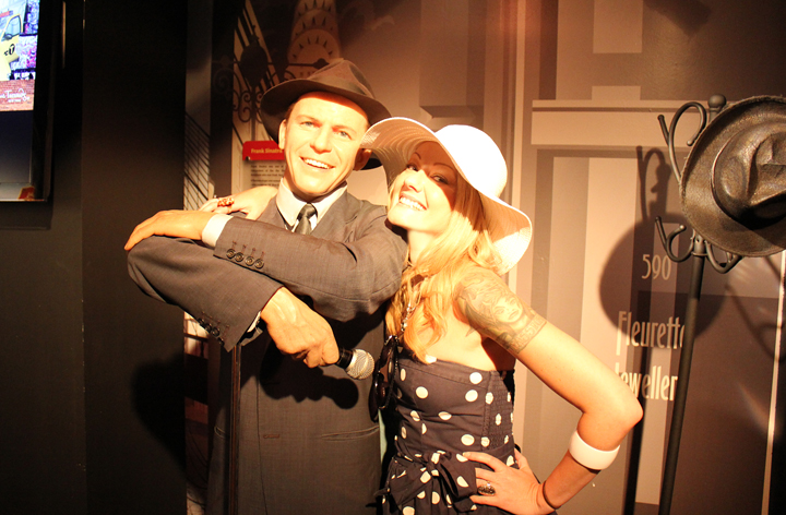 Me with good ole Blue Eyes at Madame Tussauds Wax Museum in New York.
