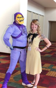 I ran around chasing Skeletor ALL day trying to get THIS picture with him!