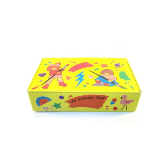 An example of another cardboard pencil box.