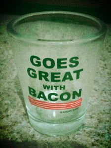 This needs no introduction. Duh. And yes, bacon & bourbon = HOLLA! DH likes the Knob Creek.