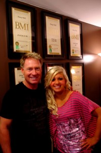 """Abbi in Nashville working on her album with Danny Wells, songwriter/producer of """"Check Yes or No,"""" by George Strait. Danny has also written for Rascall Flatts, Sarah Evans, and so many more. :)"""