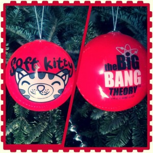This was HIS new ornament this year. It should be self- explanatory that we're fans of Sheldon. #bazinga!