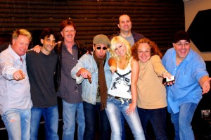 Abbi Scott with her musical dream team: Richard Donahue, Spady Brannan, Michael Spriggs, Michael Spriggs and Jimmy Nichols in Nashville, TN.