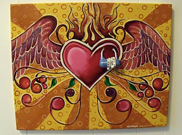 A painting I sold at one of my art shows. The proceeds went to Yéle Haiti Relief. :)