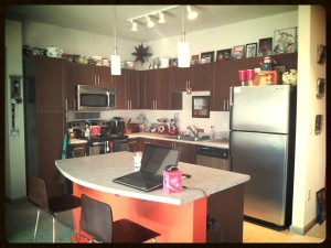 Our former retro-modern combo kitchen.