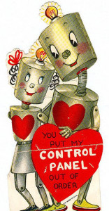 Can't have a vintage Valentine without a futuristic nerd reference!