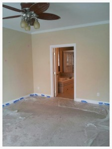 1 before photo of the master bedroom.