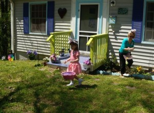 Annual Easter Egg Hunt at our old humble bungalow ~ 2009