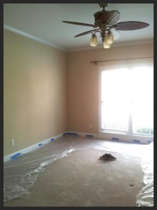 2 before photo of the master bedroom. (I am NOT a fan of stock colors: beige, tope, antique white, etc. ~ give me the RAINBOW!)