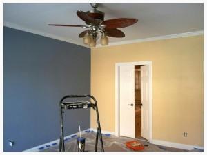 Sneak peek/in progress photo of master bedroom (still have another coat to apply tomorrow)!
