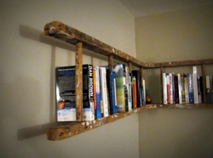 Here's a multipurpose purchase! When you're done painting those walls, once they dry you can just hang the ladder up!
