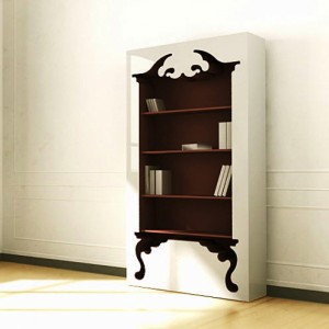 """This is a bit more complex than the other ridiculously simple ideas, but with the right tools and a steady hand, it would be easy enough to replicate. Your vintage hutch design could be anything your heart desires! I am strongly considering making one of these, but I am thinking in the formal dining room for our """"china"""" & """"crystal"""". Muhahahahaha! I slay me."""
