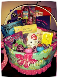 Mini Maven's Easter basket this year! That 'Easter Bunny' is a good egg! ;)