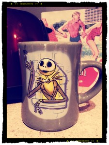 Speaking of mugs from the Disney Store, here's another one: Jack Skellington! If I haven't mentioned it yet (which would see quite peculiar & queer), I am a BEHEMOTH Tim Burton fan(atic)! I collect anything & all Tim Burton, including anything Danny Elfmam has done. So, it should not be surprising this is one of my best loved coffee mugs, as well. Check out Fantasies Come True. They have a sparkletacular assortment of Disney collectibles, and not just mugs but stiens too!
