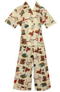 Book Lovers pajamas by Frankie & Johnny