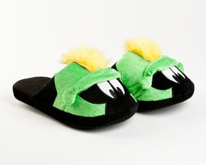 Marvin the Martian Fuzzy Slippers
