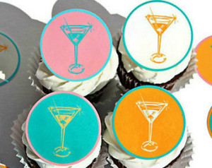And THIS is what you call Angelika Frangelico proof (and I don't mean the martini)! These are just edible images that are printed on high quality frosting sheets with premium edible ink. Depending on where you purchase them from, the images are typically FDA approved, Gluten Free and Kosher. This is the case with these particular  custom image designs by Edible Design Images. Making baking easy as Sunday morning, dollfaces!