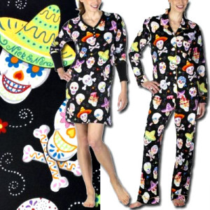 Nick & Nora Sugar Skull Pajamas